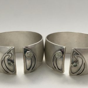 Sterling Silver Spring Cuffs