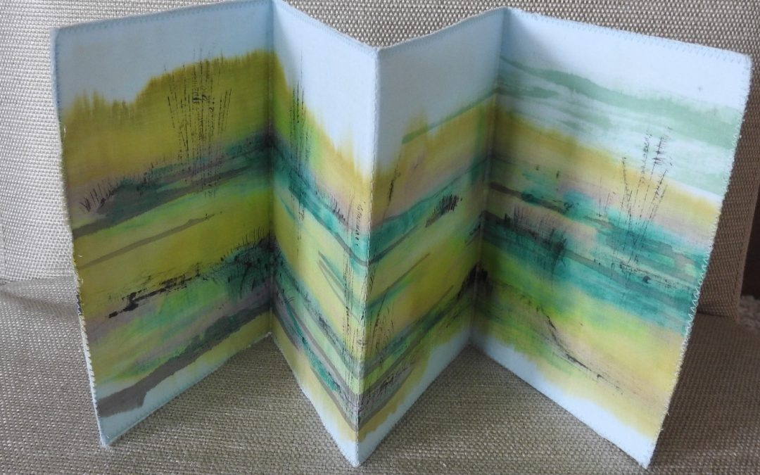 Fabric Paint Accordion Book